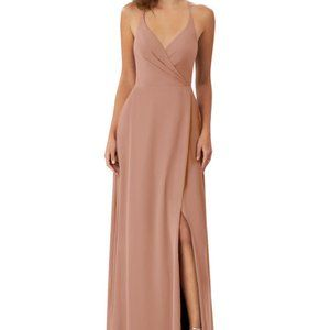 Azazie Davis Bridesmaid Dress in Champagne Rose